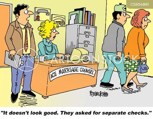 separate checks cartoon