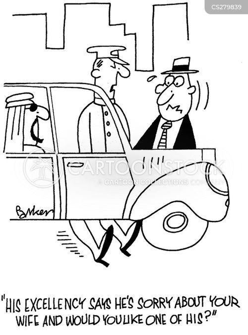 wife run over cartoons and comics
