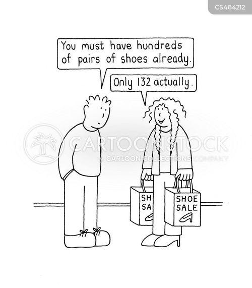 shoe lover cartoon