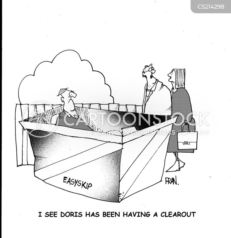 clear out cartoon