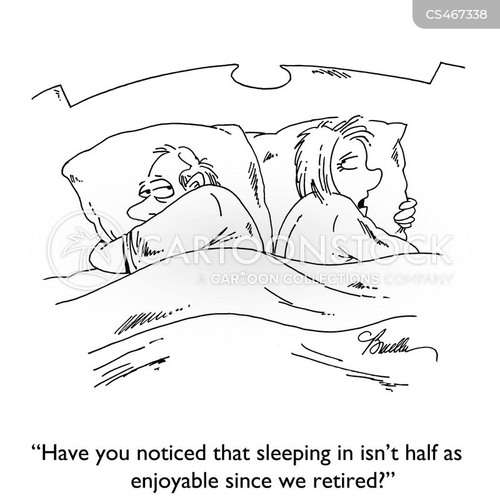 sleeping-in cartoon