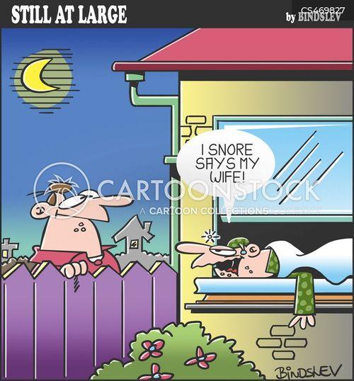 sleep problem cartoon