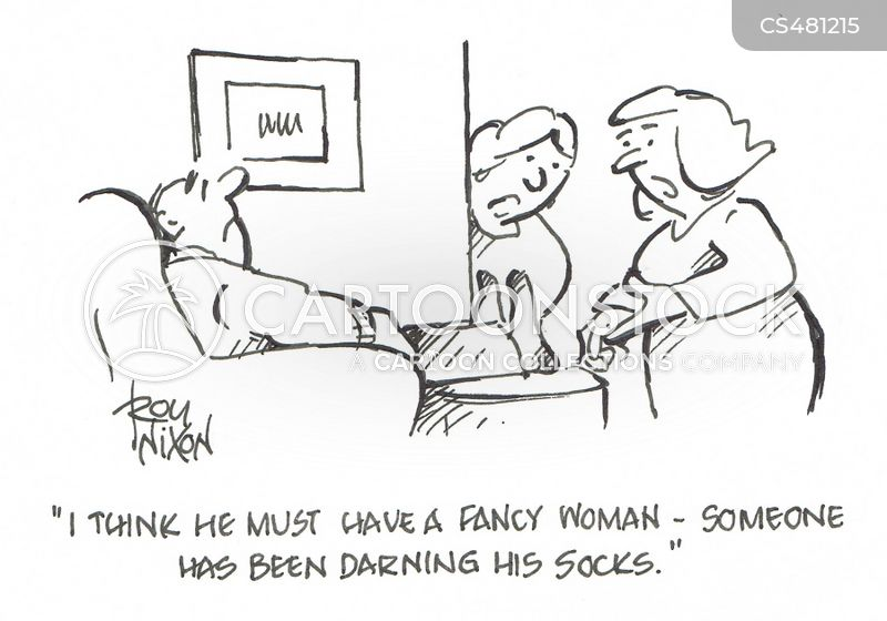 darned sock cartoon
