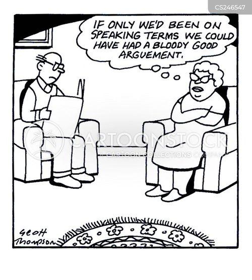 speaking terms cartoon