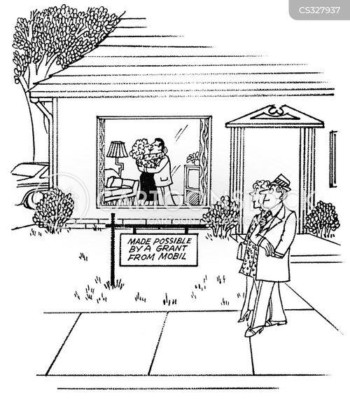 happy couple cartoon