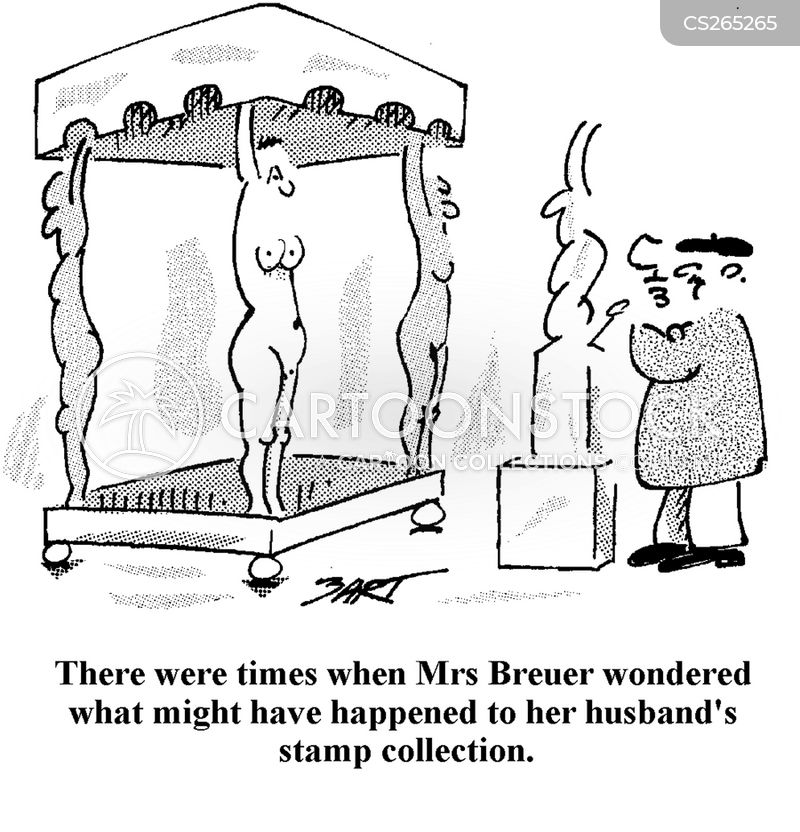 stamp collections cartoon