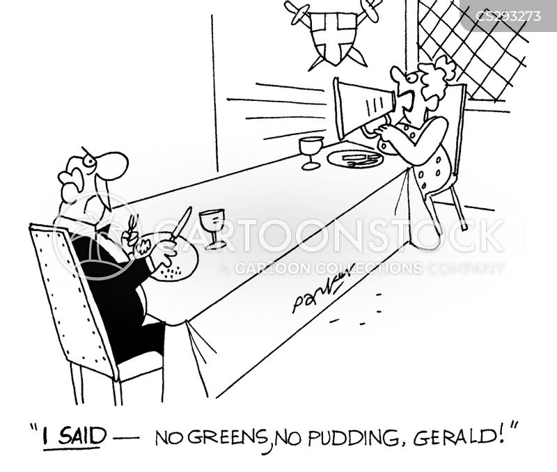 no pudding cartoon