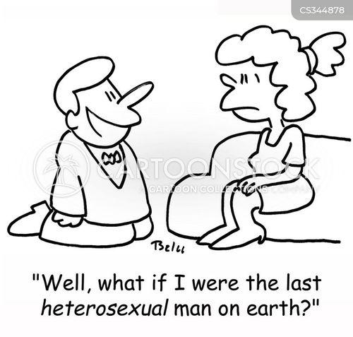 straight man cartoon
