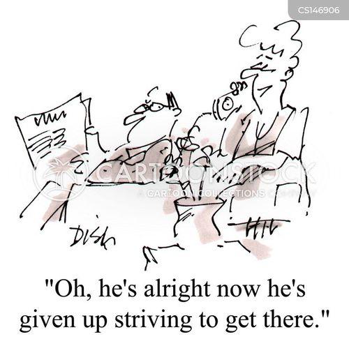 striving cartoon