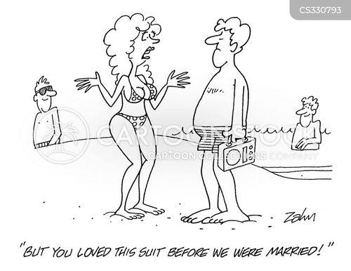 swim suits cartoon