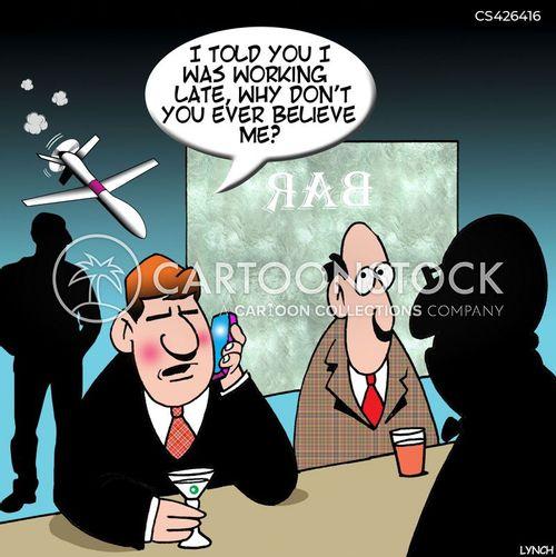 surveillance drone cartoon