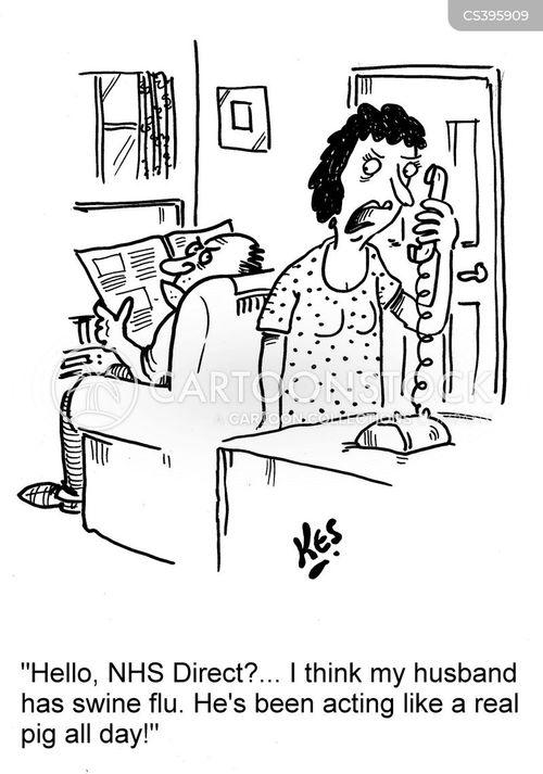 influenza outbreak cartoon