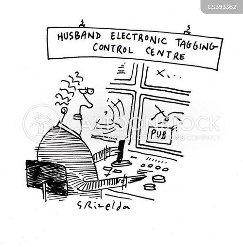 electronic tagging cartoon