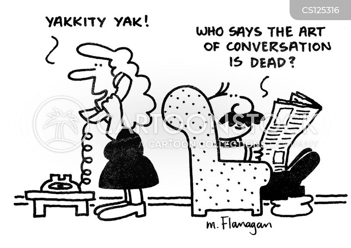art of conversation cartoon