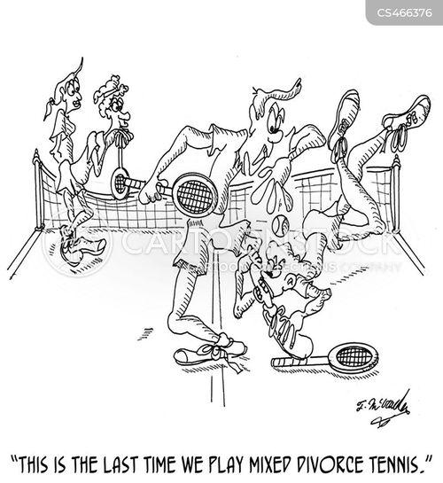 tennis partner cartoon
