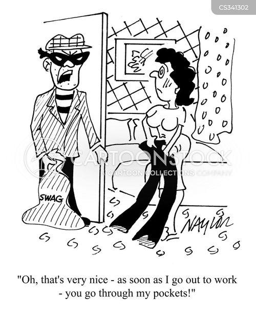 professional criminal cartoon