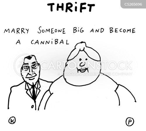 thrift cartoon