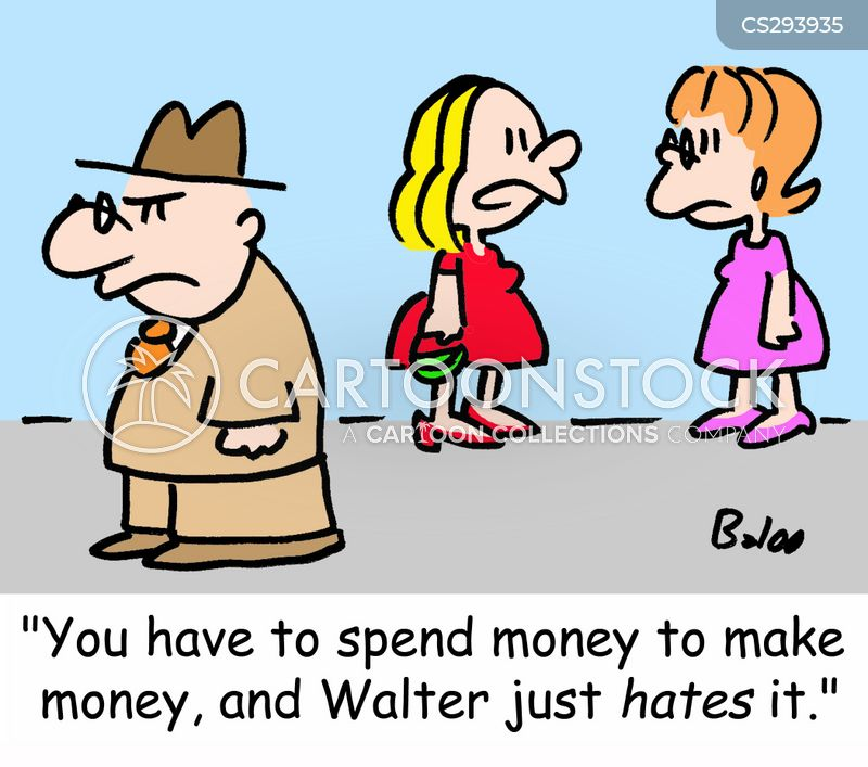 investing money cartoon