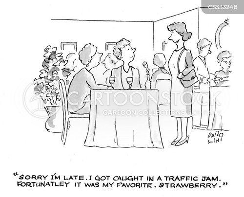 late arrival cartoon