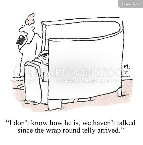 television addict cartoon