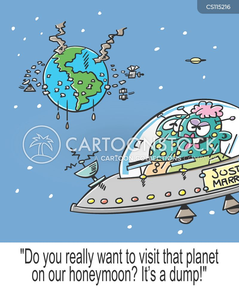 space junk cartoon