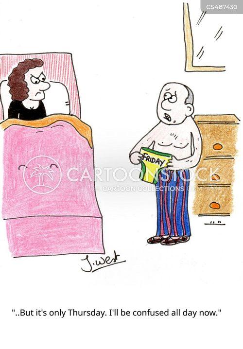 days of the week cartoon