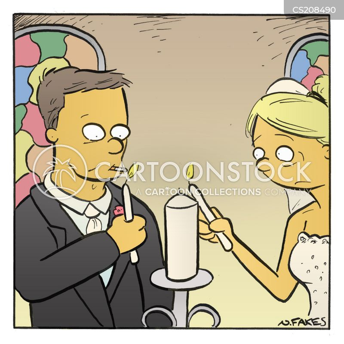 marriage ceremony cartoon