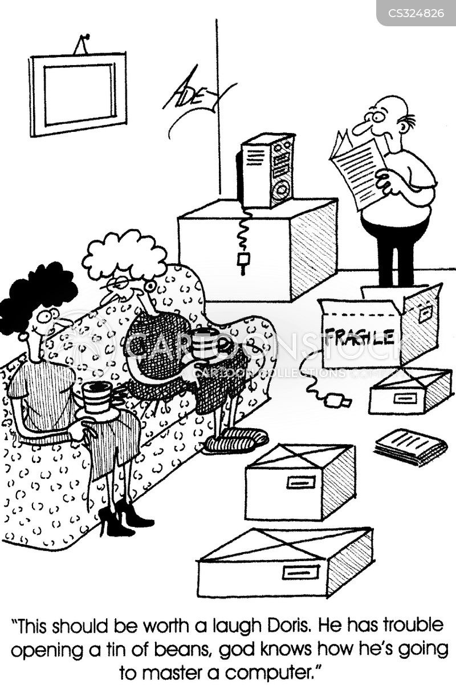 unpacking cartoon