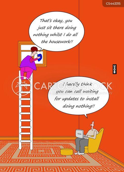 software update cartoon