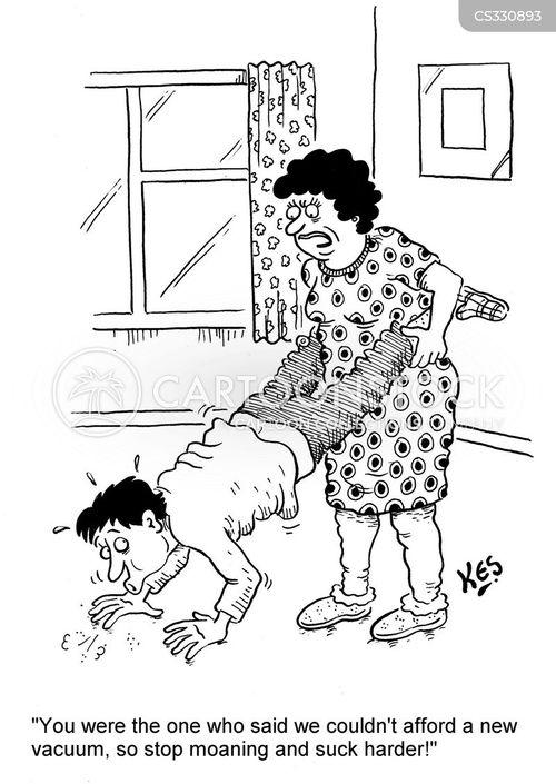 vaccum cleaner cartoon