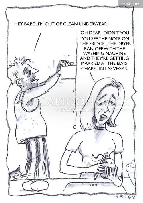 domestic chore cartoon