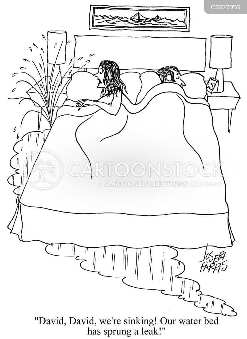 water beds cartoon