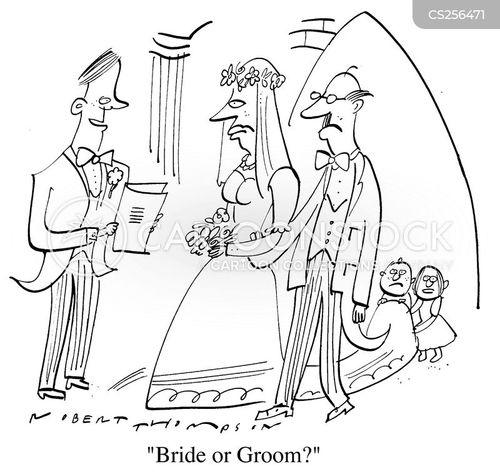 church weddings cartoon