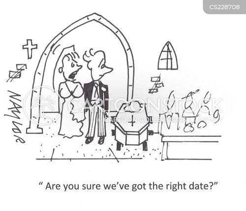 wedding date cartoon