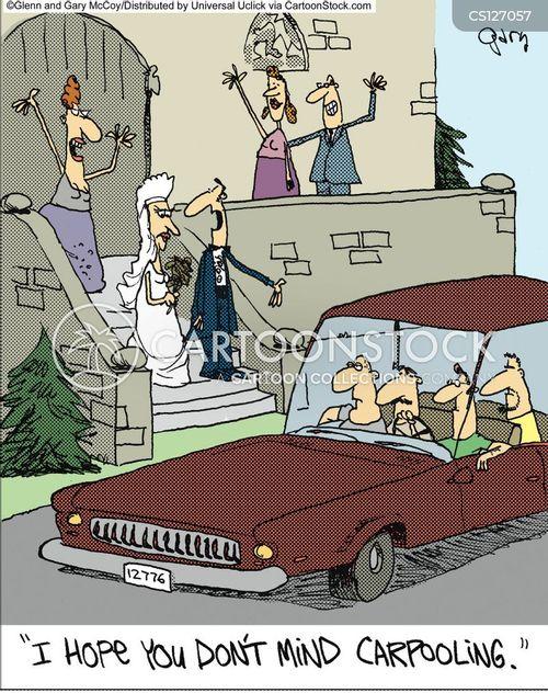 car share cartoon
