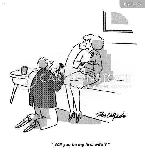 first wife cartoon