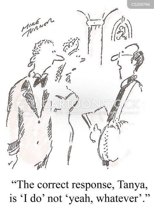 wedding oath cartoon