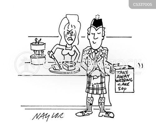 cutting the cake cartoon