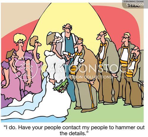 Cartoons Und Karikaturen Mit Hochzeiten