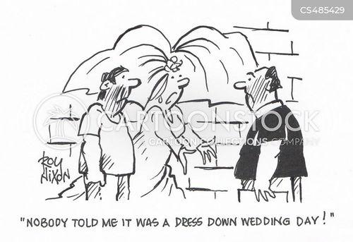 bridal dress cartoon