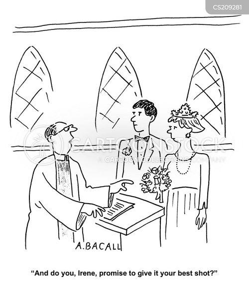 marital vows cartoon