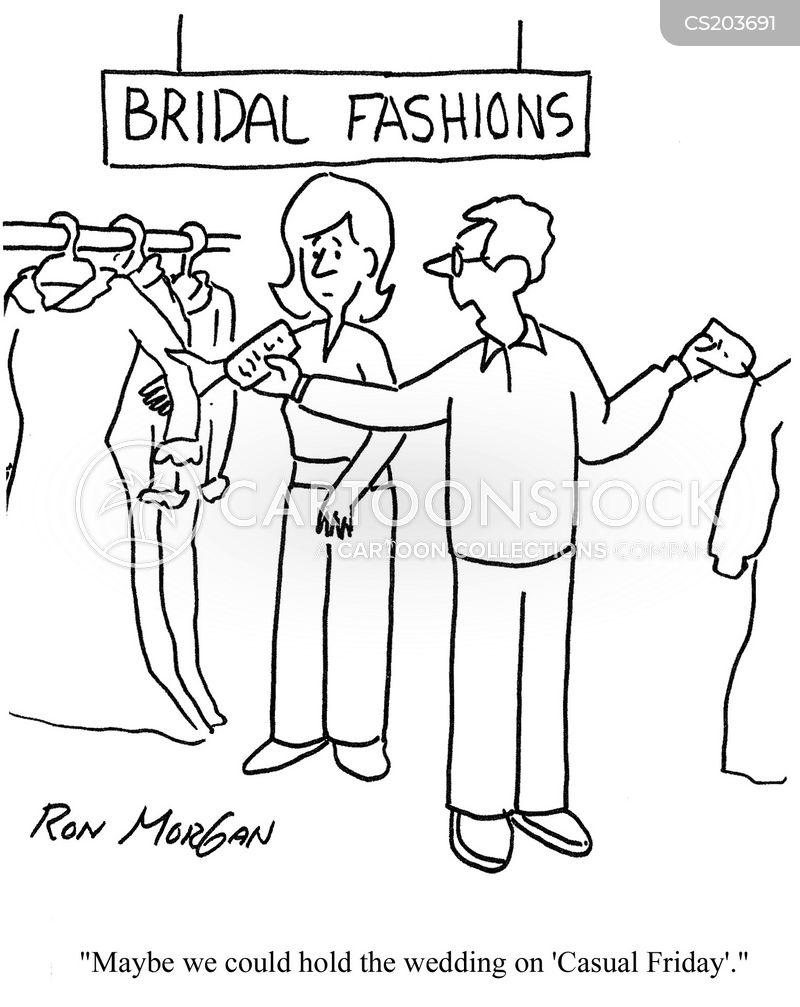 wedding store cartoon
