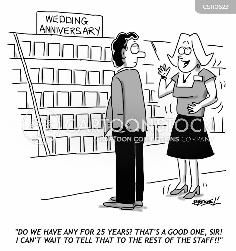 Funny Wedding Anniversary: Silver Wedding Anniversary Cartoons And Comics