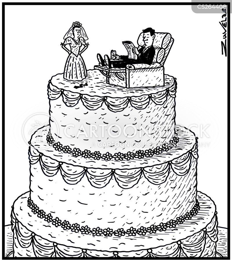 cartoon picture of a wedding cake figurines and comics pictures from 12418