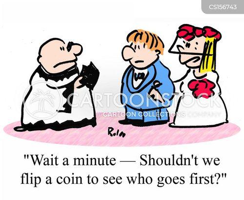 coin flip cartoon