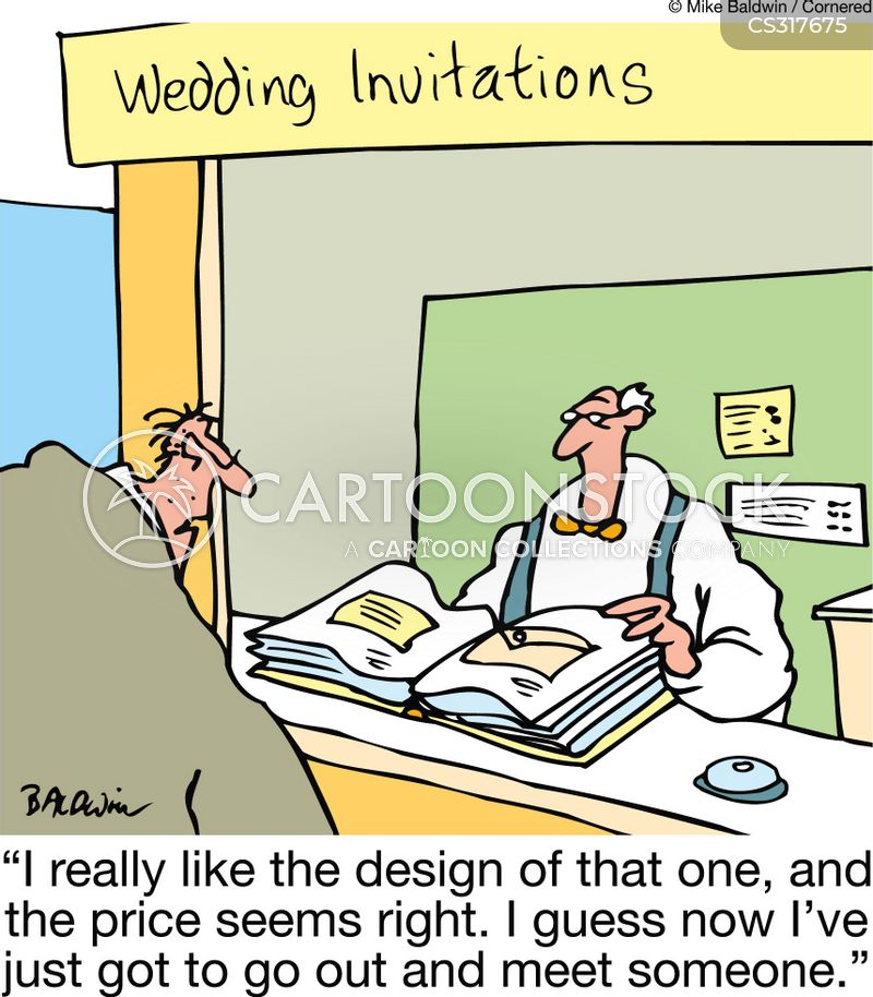 wedding invitations cartoon