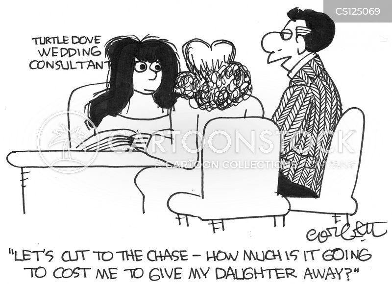wedding planning cartoon
