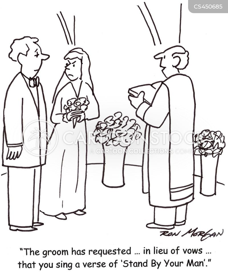 traditional vows cartoon