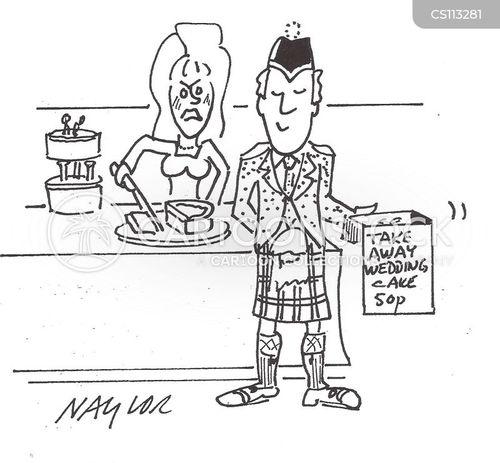 cake sales cartoon