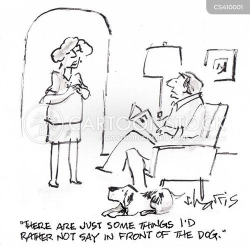 private conversation cartoon